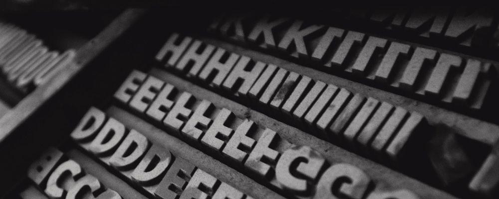 Typographie lettres en plomb imprimerie
